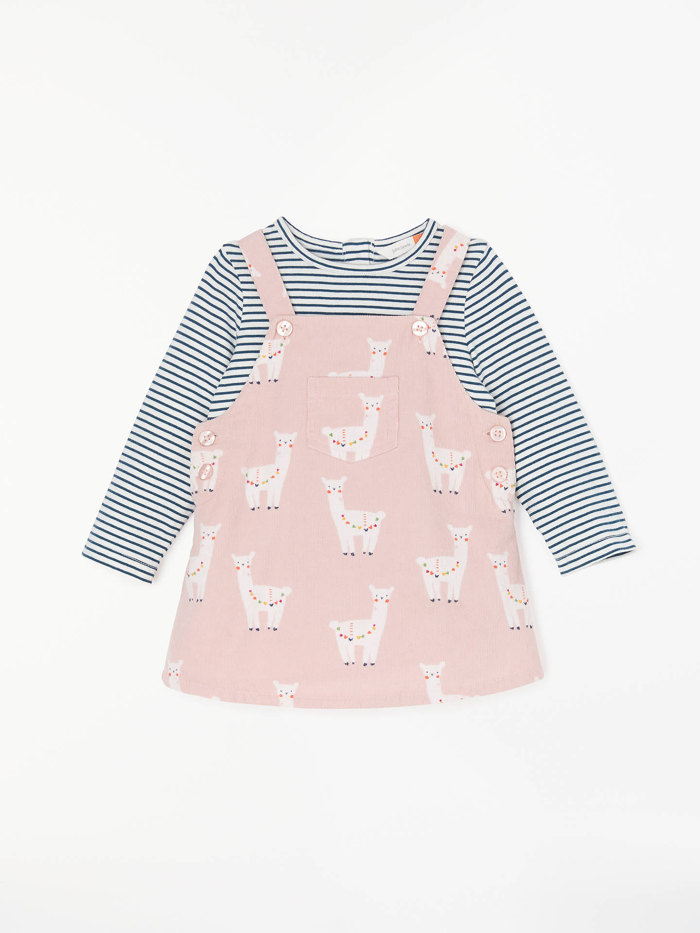 3c257e80d John Lewis   Partners Baby Lama Cord Dress and Top Set
