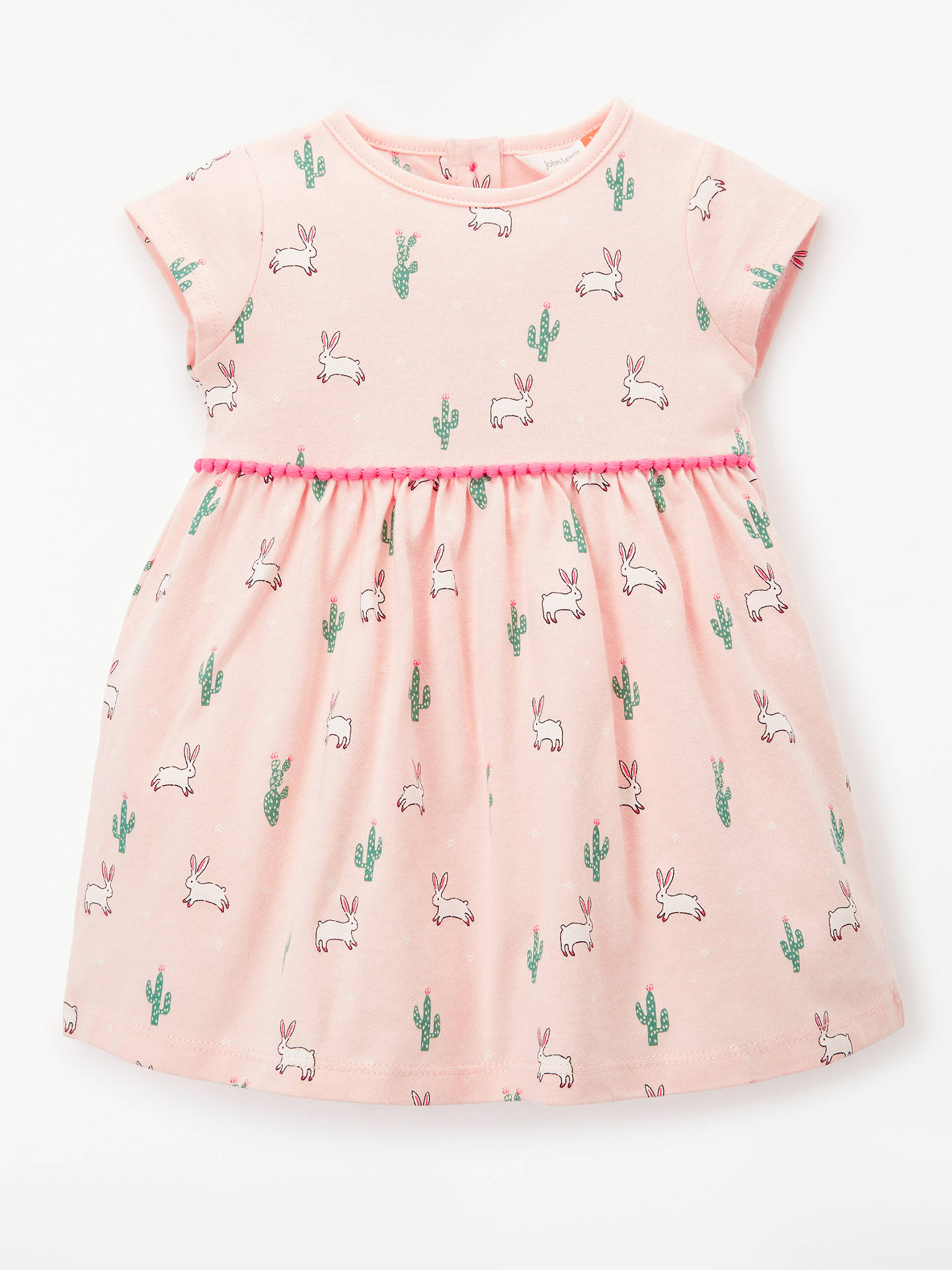 11fe7b867 Buy John Lewis & Partners Baby Cactus Bunny Dress, Pink, 0-3 months ...