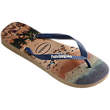 Buy Havaianas Beach Print Flip Flops, Multi Online at johnlewis.com
