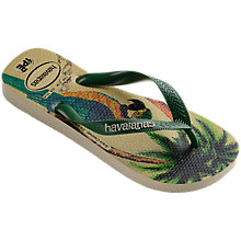 Buy Havaianas Parrot Print Flip Flops, Multi Online at johnlewis.com