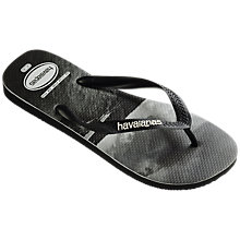 Buy Havaianas Sea Print Flip Flops, Multi Online at johnlewis.com