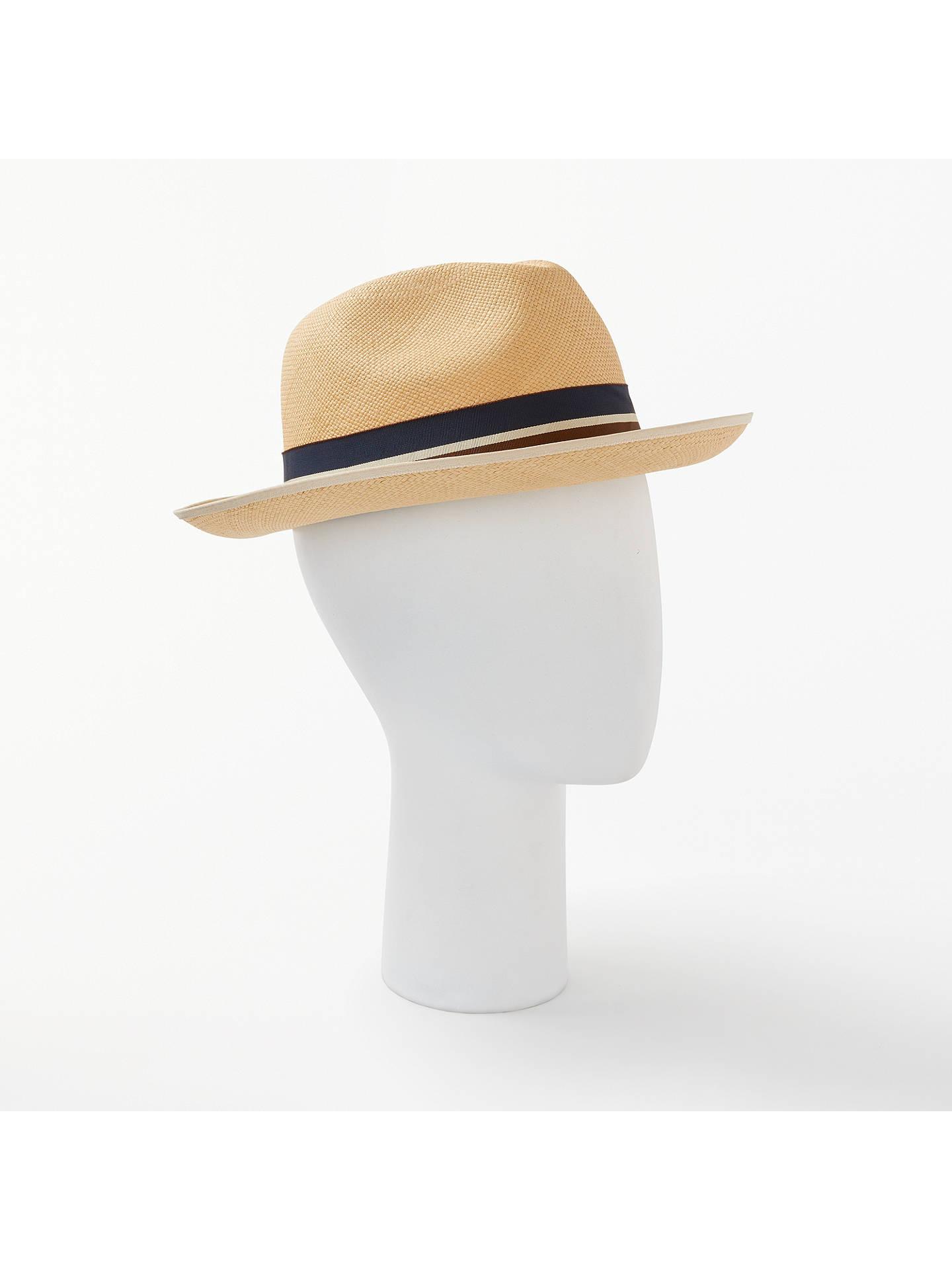 afd3b725 Buy Christys' Classic Preset Panama Hat, Natural, M Online at johnlewis. ...