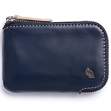 Buy Bellroy Leather Zip Up Card Pocket, Blue Steel Online at johnlewis.com