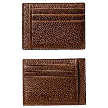 Buy BOSS Italian Grained Leather Card Holder, Tan Online at johnlewis.com