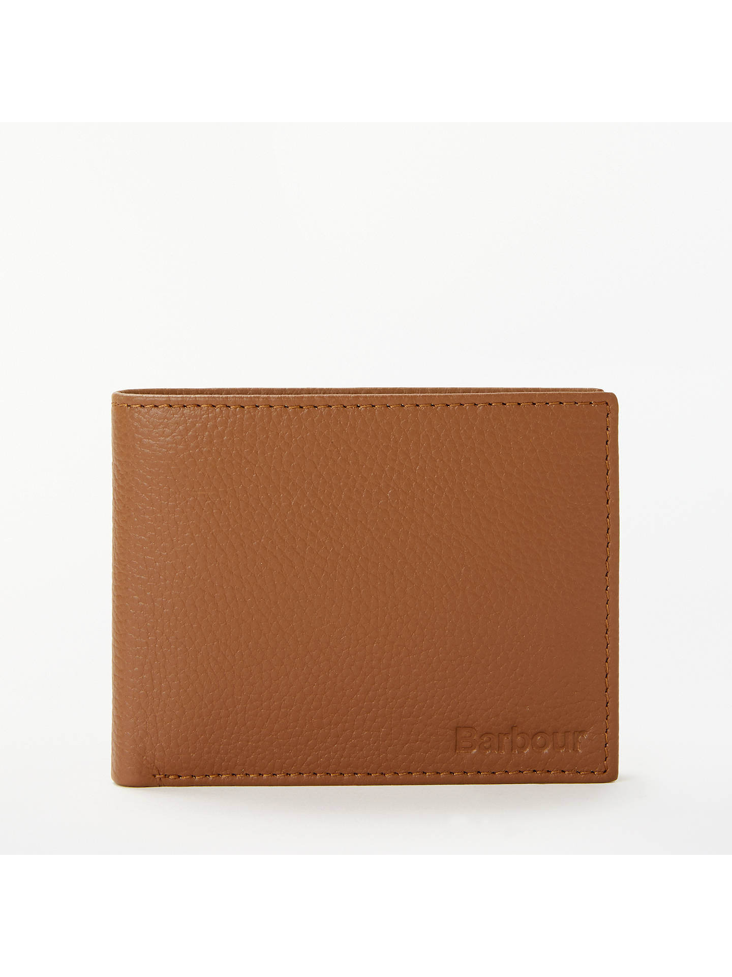 BuyBarbour Leather Wallet Card ID Wallet, Tan Online at johnlewis.com