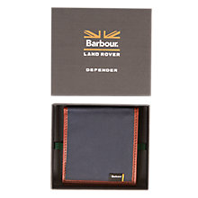 Buy Barbour Defender Drywax Wallet, Navy Online at johnlewis.com