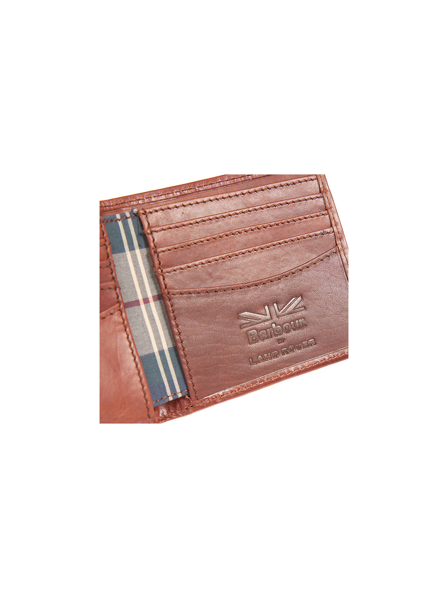 Barbour Land Rover Defender Drywax Wallet Navy At John
