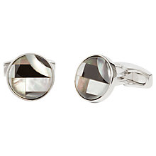 Buy Simon Carter for John Lewis Round Bauhaus Cufflinks, Onyx Online at johnlewis.com
