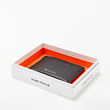 Buy PS Paul Smith Stripe Leather Card Holder, Black Online at johnlewis.com