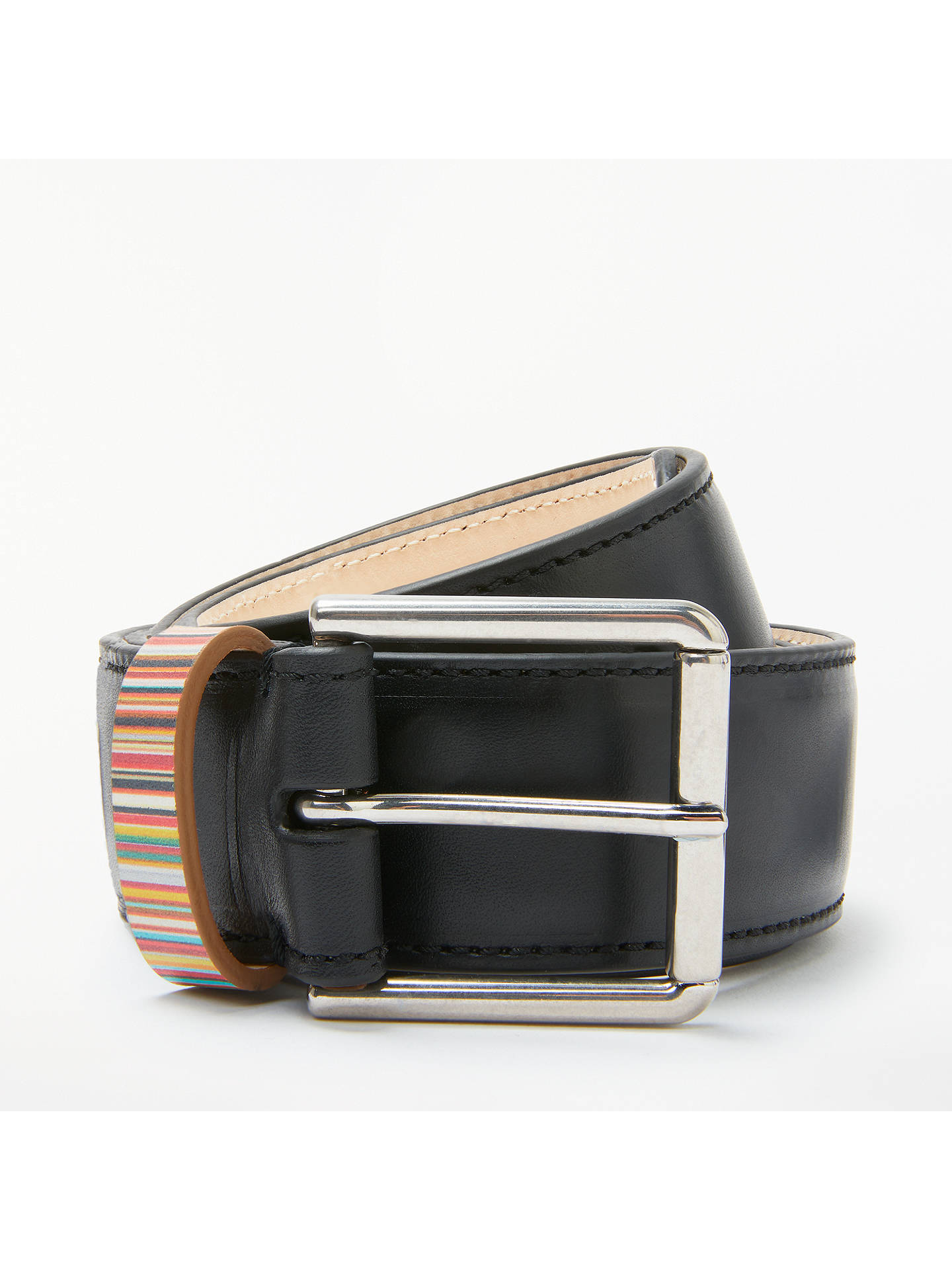 200744333c949 Buy Paul Smith Signature Stripe Keeper Leather Belt, Black/Multi, S Online  at