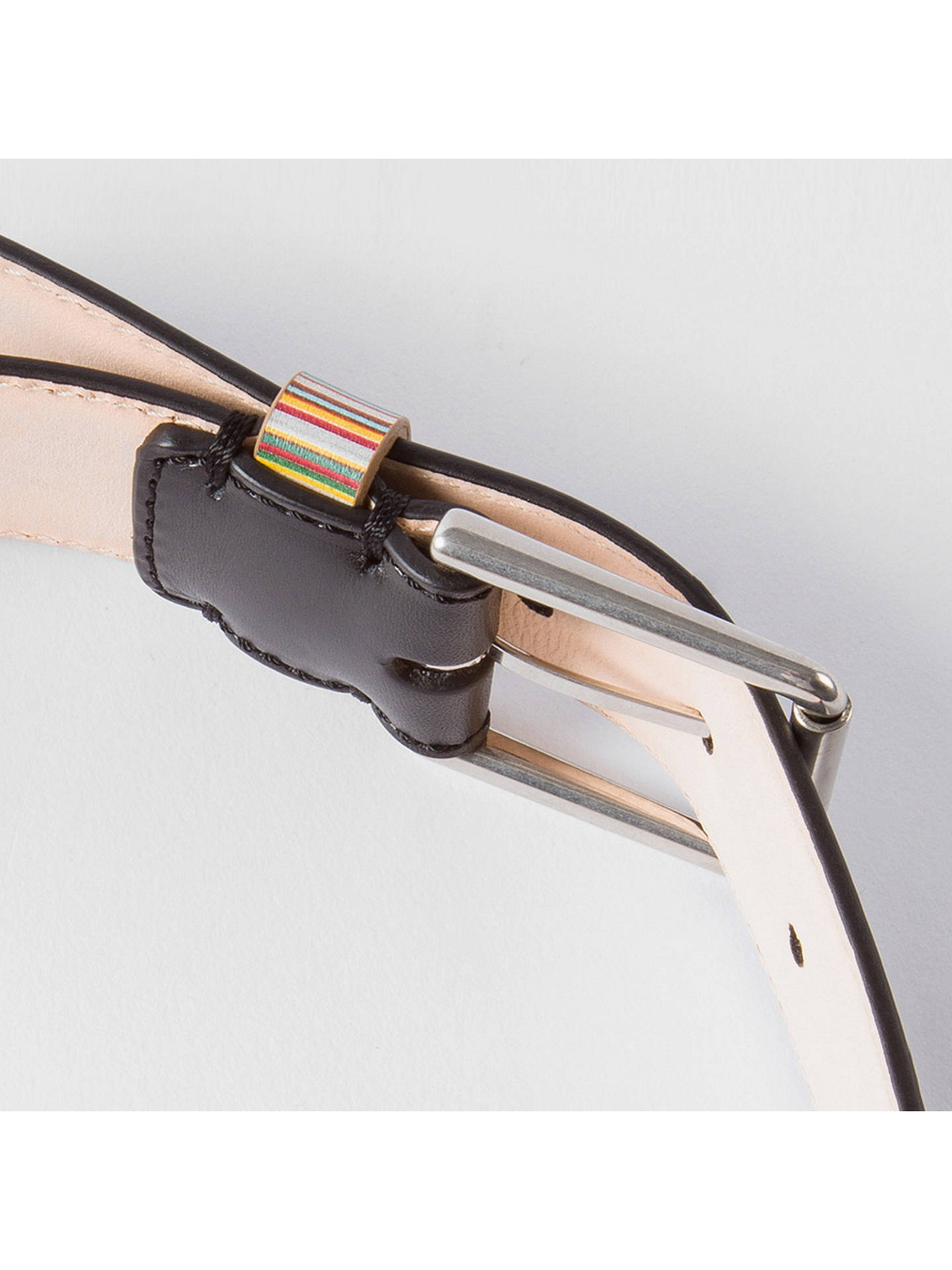 8746089fc11c7 ... Buy Paul Smith Signature Stripe Keeper Leather Belt, Black/Multi, S  Online at. Back to top