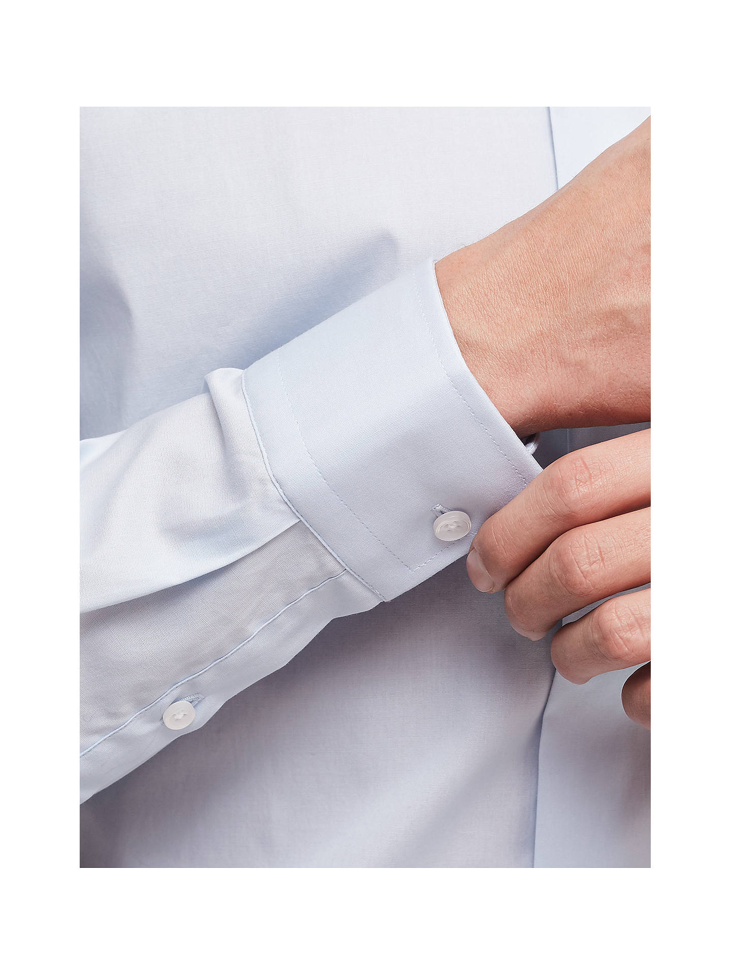 Buy Reiss Oxider Natural Stretch Slim Fit Shirt, Soft Blue, XS Online at johnlewis.com