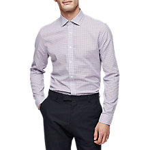 Buy Reiss Knight Check Slim Fit Shirt, Purple Online at johnlewis.com