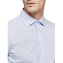 Buy Reiss Gilespie Polka Dot Slim Fit Shirt, Soft Blue Online at johnlewis.com