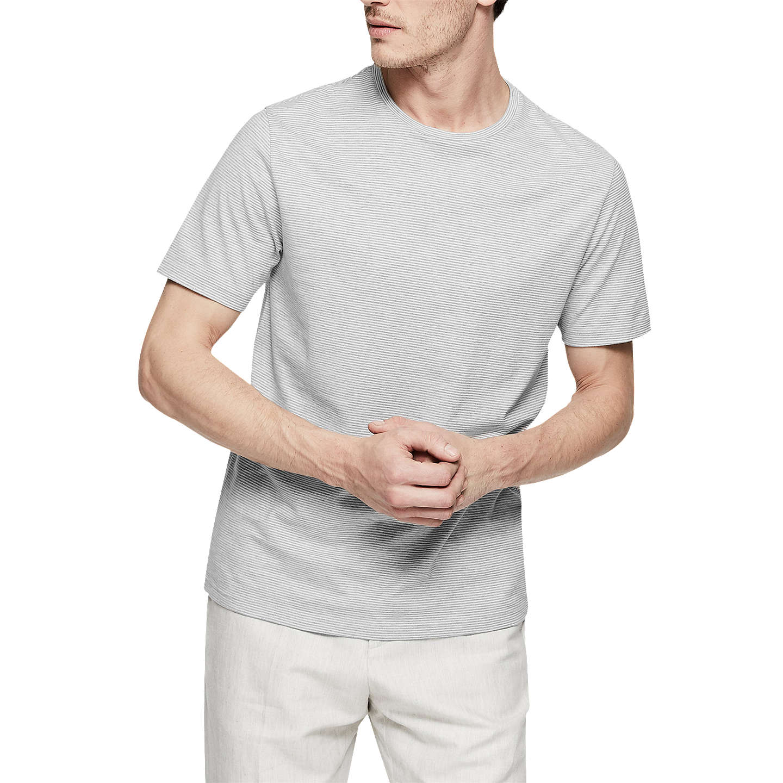 Beck - Fine Stripe T-shirt in Grey, Mens, Size XXL Reiss