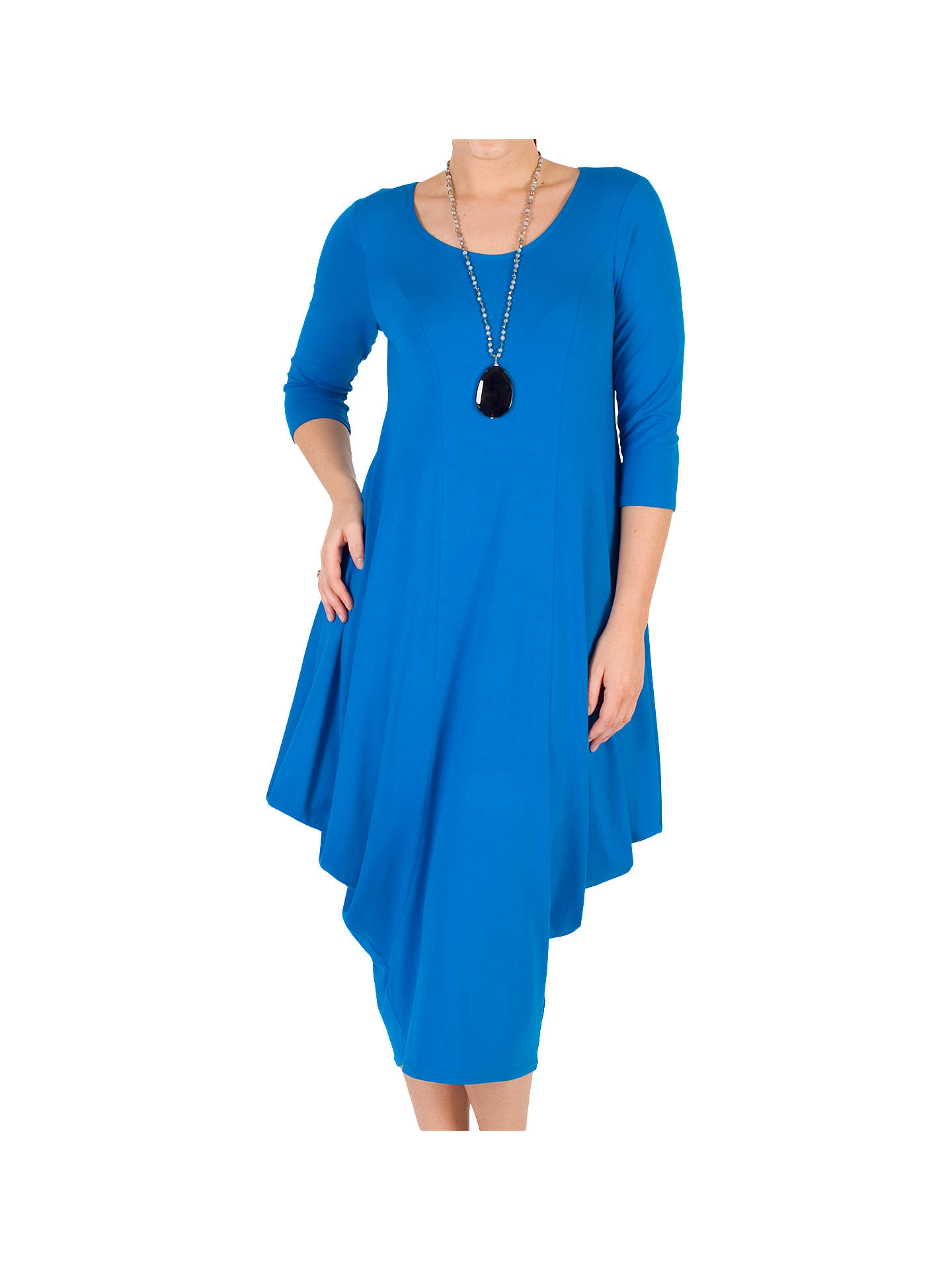 BuyChesca Princess Seam Jersey Dress, Azure, 12-14 Online at johnlewis.com