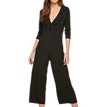 Buy Miss Selfridge Jersey Wrap Jumpsuit, Black Online at johnlewis.com