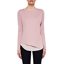 Buy Ted Baker Knitted Overlay Jumper, Baby Pink Online at johnlewis.com