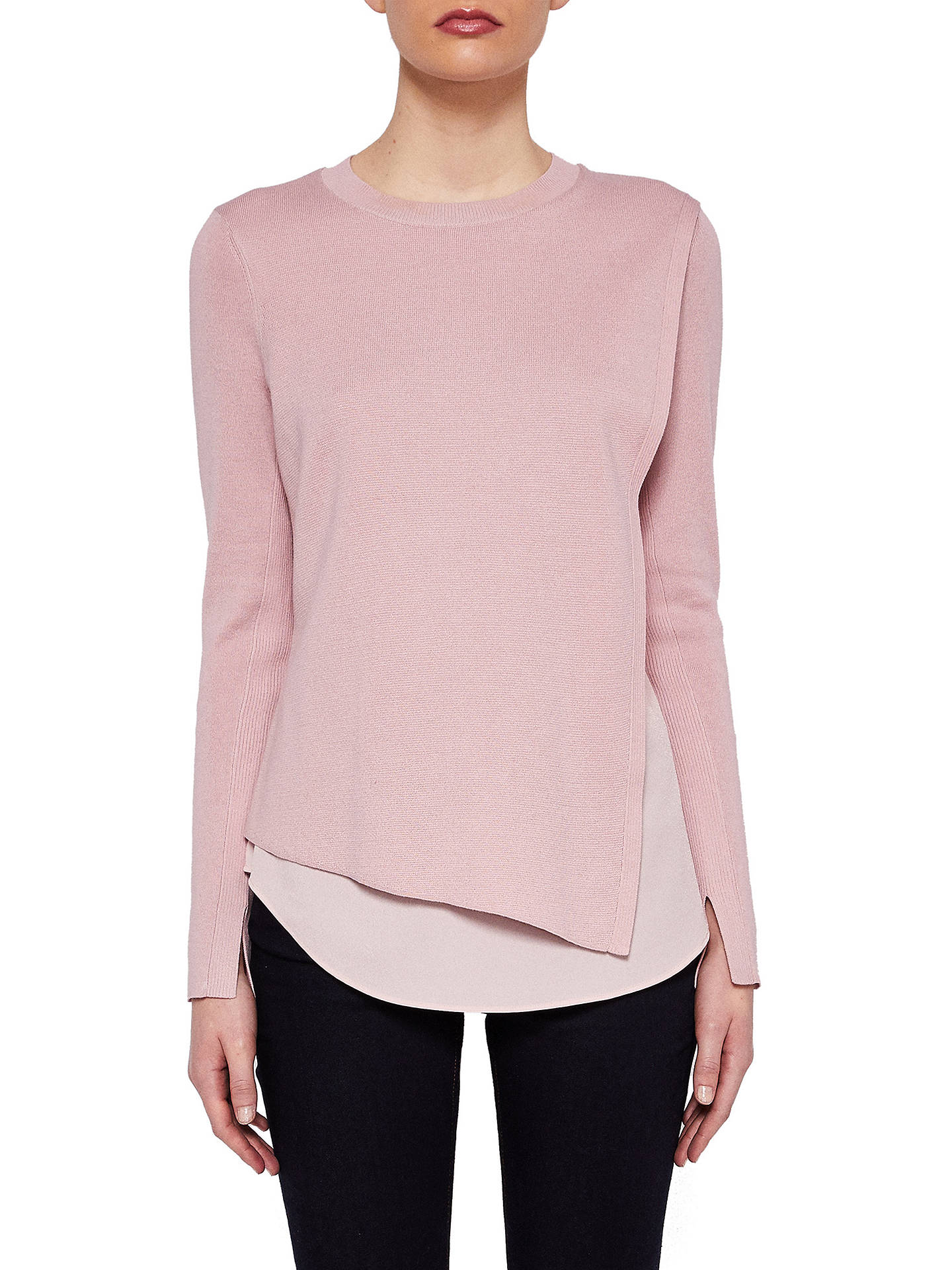 490dbd671 Ted Baker Knitted Overlay Jumper at John Lewis   Partners