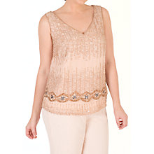 Buy Chesca Chiffon V-Neck Top, Blush Online at johnlewis.com