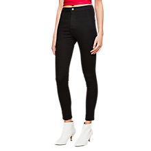 Buy Miss Selfridge Super High Waist Jeggings, Black Online at johnlewis.com
