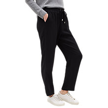 Buy Jaeger Crepe Drawstring Trousers, Black Online at johnlewis.com