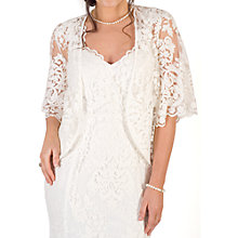 Buy Chesca Scallop Sleeve Lace Shrug, Ivory Online at johnlewis.com