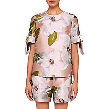 Buy Ted Baker Caytey Chatsworth Bloom Top, Dusky Pink Online at johnlewis.com