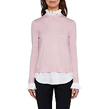 Buy Ted Baker Kaarina Pleated Neck Jumper, Dusky Pink Online at johnlewis.com