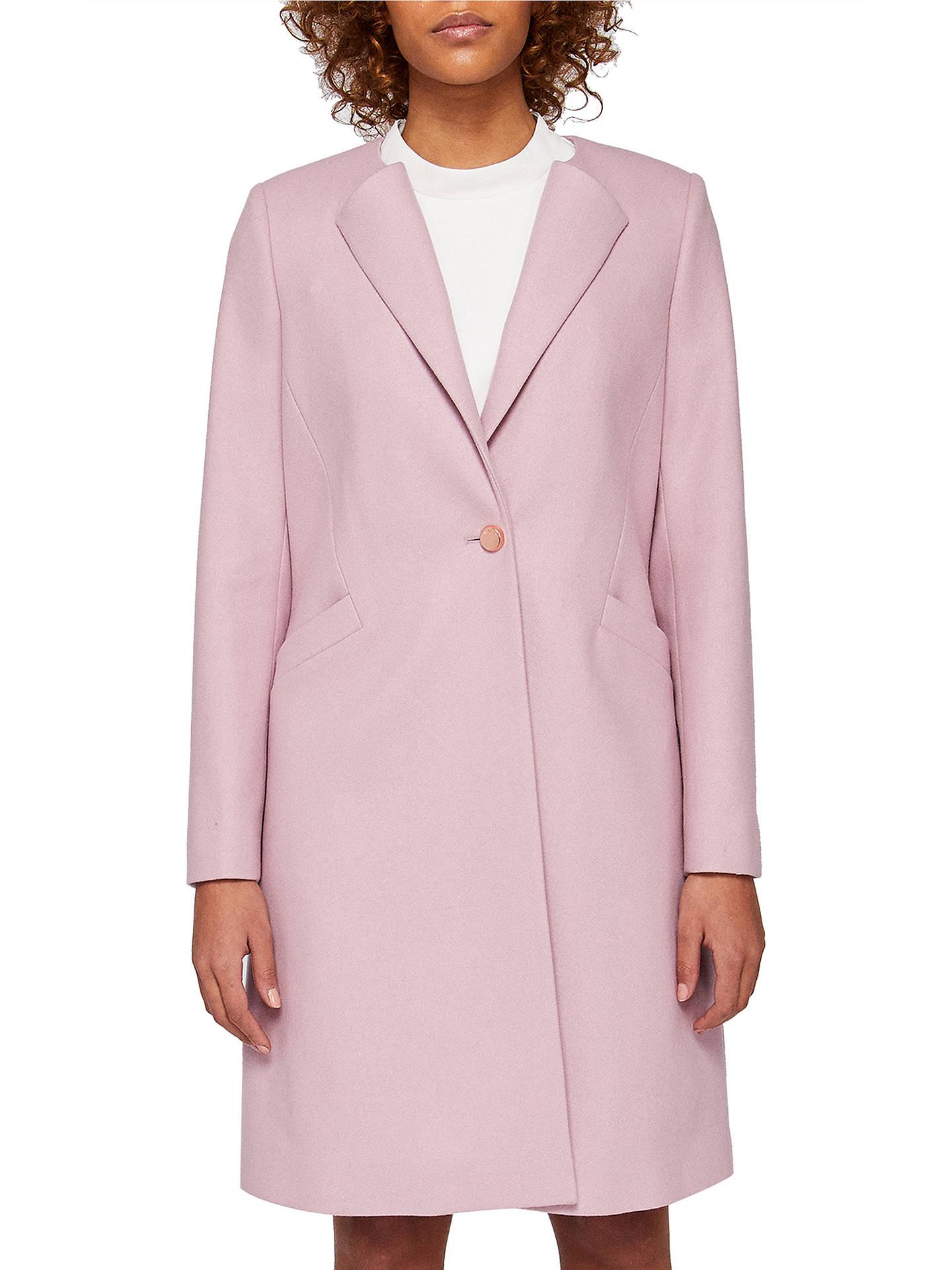 514deffd169d6 Buy Ted Baker Emilio Collarless Wool Blend Coat