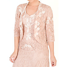 Buy Chesca Ombre Cornelli Lace Jacket, Blush/Ivory Online at johnlewis.com