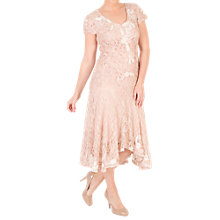 Buy Chesca Ombre Cornelli Lace Dress, Blush/Ivory Online at johnlewis.com