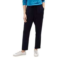 Buy Jaeger Elasticated Waist Trousers, Navy Online at johnlewis.com