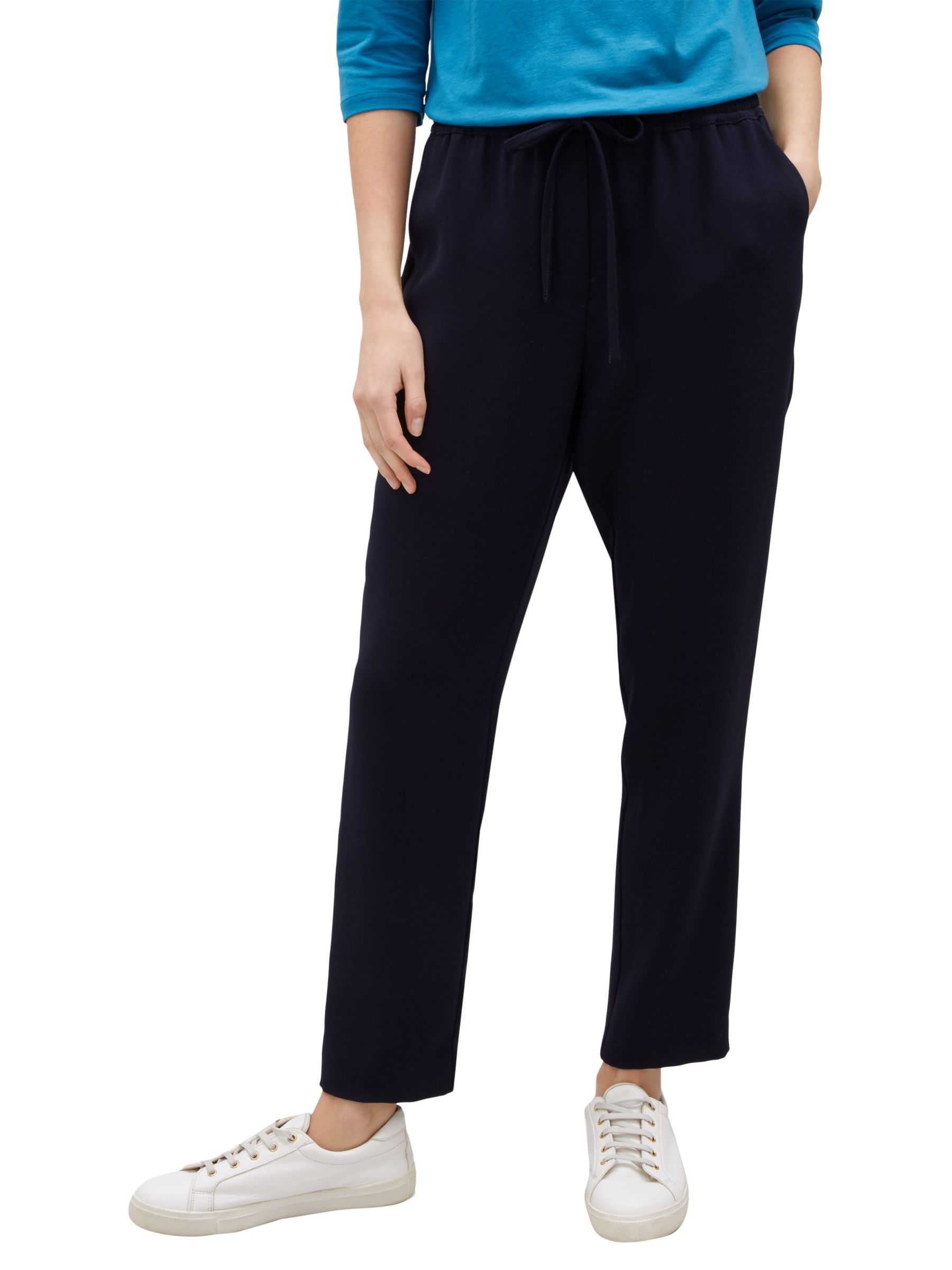 Jaeger Jaeger Elasticated Waist Trousers, Navy