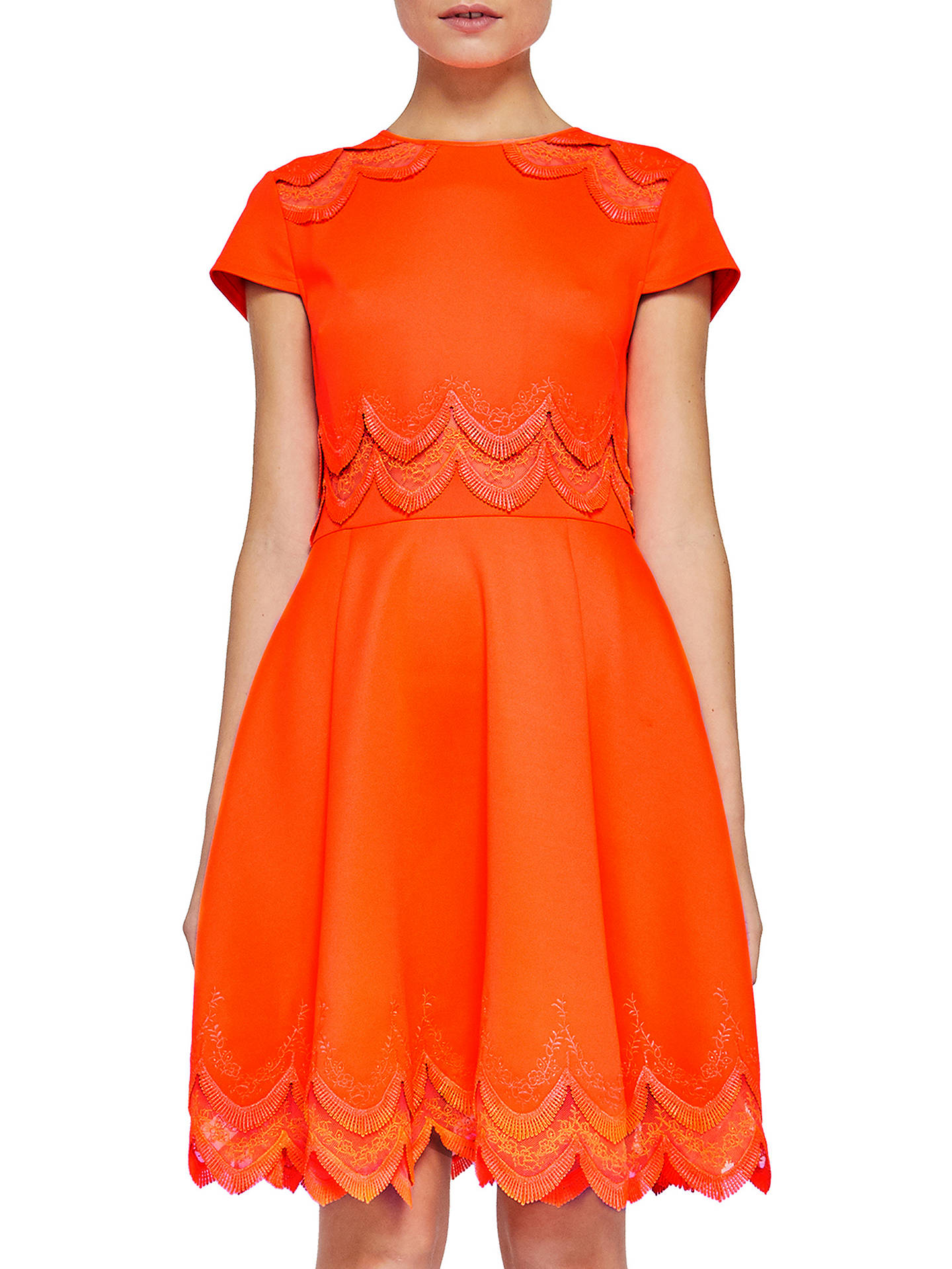 5aac427855fc Ted Baker Rehanna Embroidered Skater Dress at John Lewis   Partners