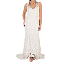 Buy Chesca Scallop Lace Wedding Dress, Ivory Online at johnlewis.com