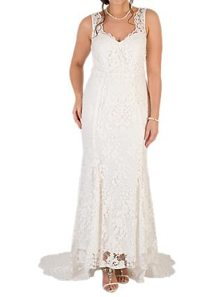 Chesca Scallop Lace Wedding Dress, Ivory