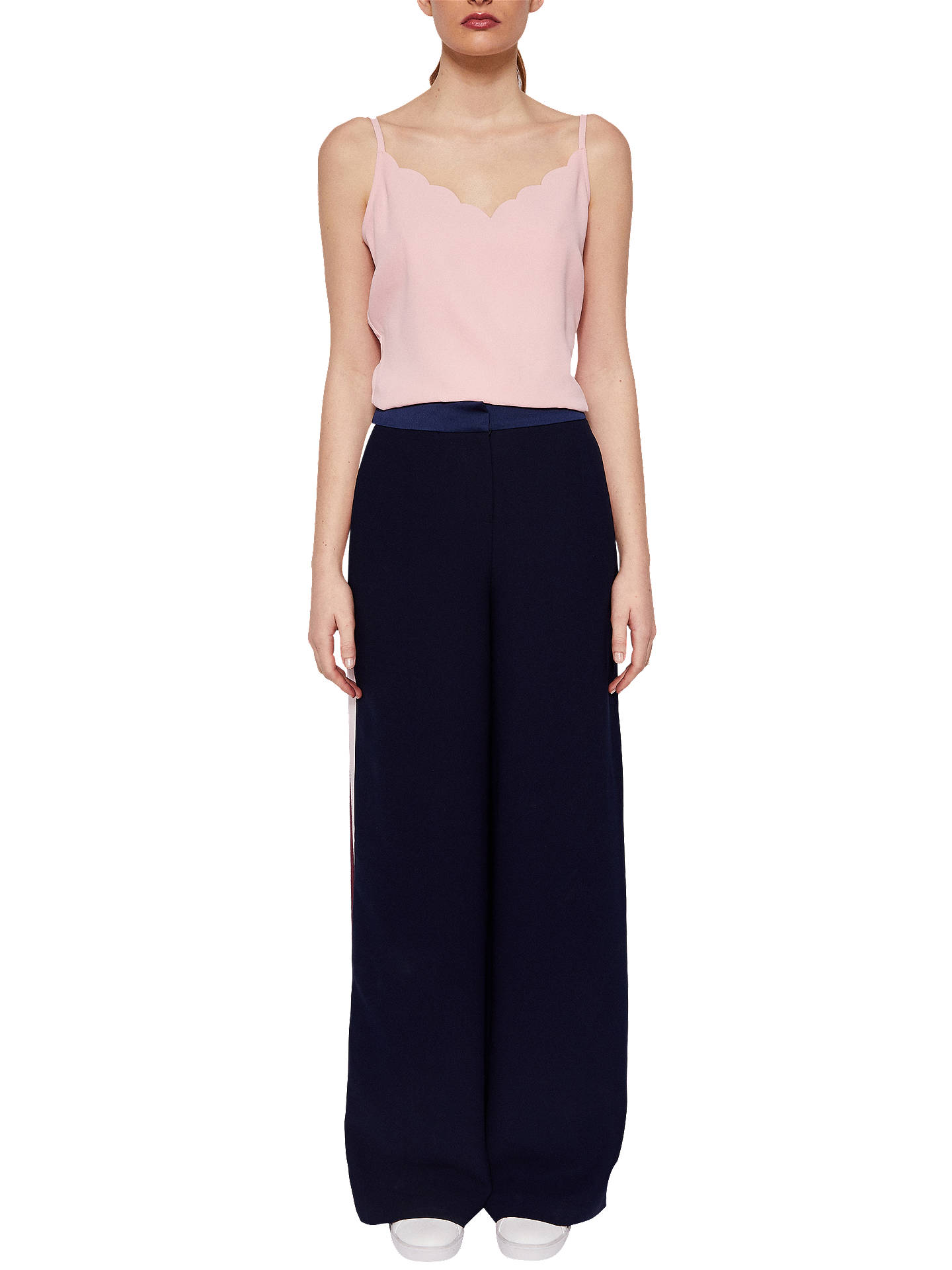 Buy Ted Baker Siina Scallop Neckline Camisole Top, Dusky Pink, L Online at johnlewis.com