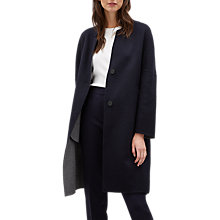 Buy Jaeger Double Face Coat, Grey/Navy Online at johnlewis.com
