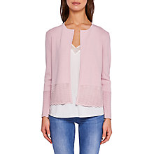 Buy Ted Baker Kellie Zig Zag Ottoman Cardigan, Pink Online at johnlewis.com