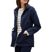 Buy Jaeger Essential Parka, Navy Online at johnlewis.com