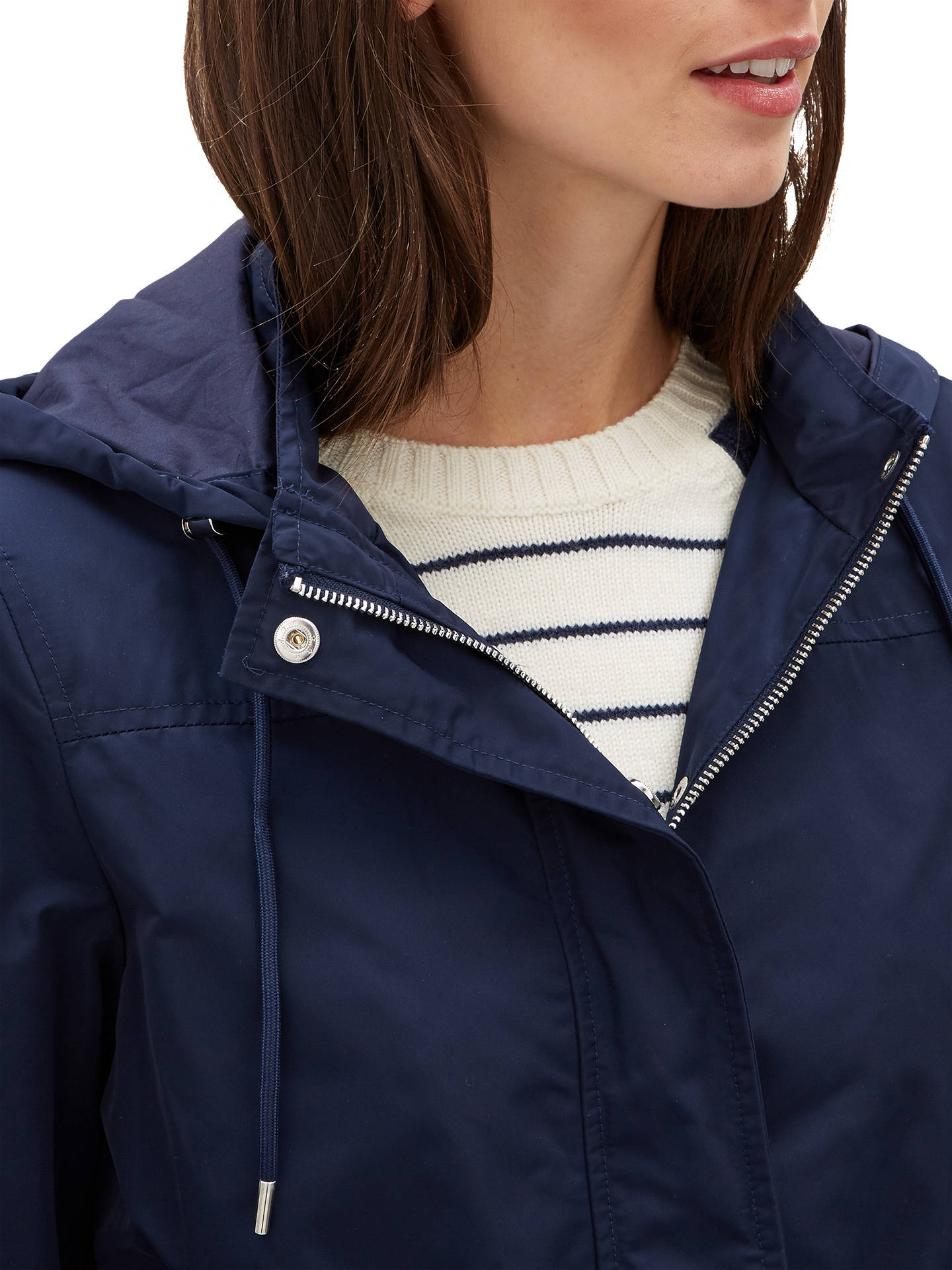 Buy Jaeger Essential Parka, Navy, 6 Online at johnlewis.com