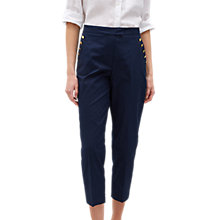 Buy Jaeger Shank Button Chino Trousers, Navy Online at johnlewis.com