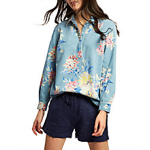 Buy Joules Floral Print Chambray Shirt, Multi Online at johnlewis.com