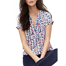 Buy Joules Ditsy Print Top, Multi Online at johnlewis.com