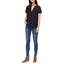 Buy Joules Spot Print Top, Navy Online at johnlewis.com