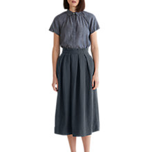 Buy Toast Cotton Khadi Puff Sleeve Shirt, Chambray Online at johnlewis.com