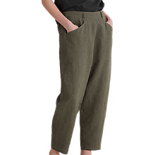 Buy Toast Alix Pinstripe Linen Trousers, Olive Stripe Online at johnlewis.com