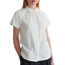 Buy Toast Cotton Khadi Puff Sleeve Shirt, Off White Online at johnlewis.com