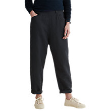 Buy Toast Alix Cotton Linen Twill Trousers, Anthracite Blue Online at johnlewis.com